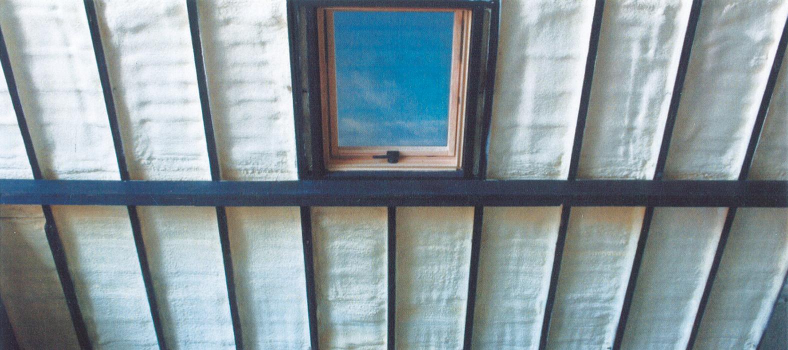 Spray foam roof insulation