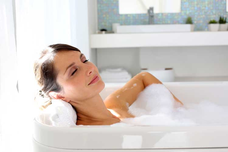 A thermodynamic system can provide hot water for baths