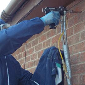 Installation of cavity wall insulation