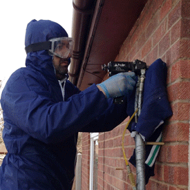 cavity wall insulation installation