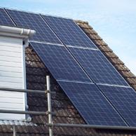 Solar panel in Staffordshire