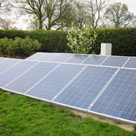 Solar panel in Staffordshire