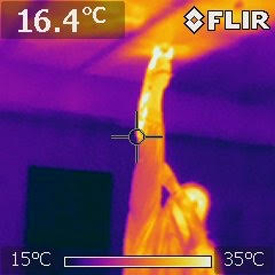 Spray foam insulation heat map