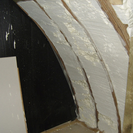 Spray foam insulatiobefore being plastered