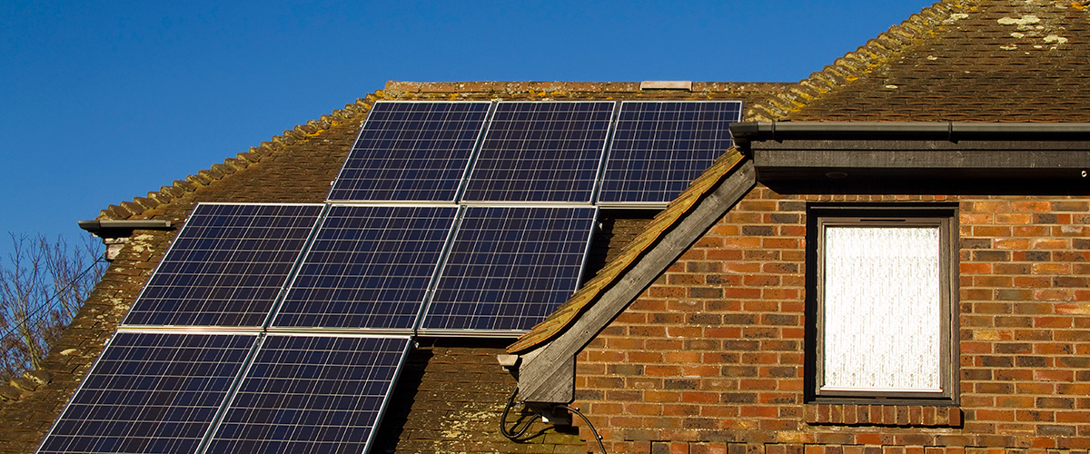 Solar panels are a great green alternative to oil heating