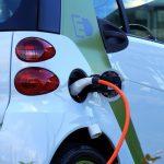 An electric car n Staffordshire