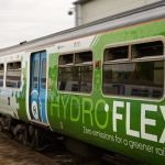 Lining up the train that runs on hydrogen