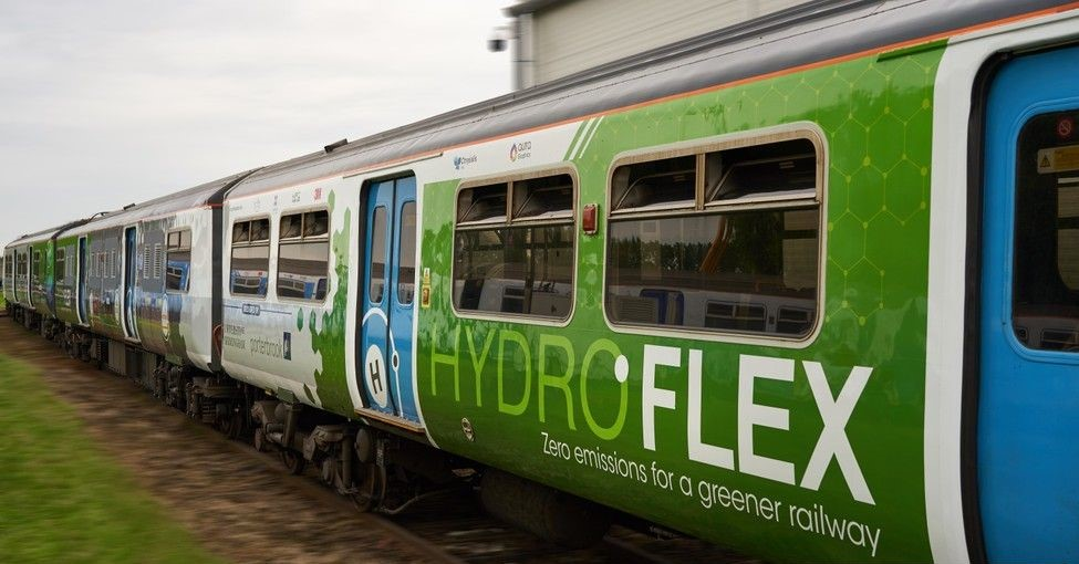 Hydrogen-powered trains like Hydroflex are emissions free - provided their hydrogen comes from a renewable source. Picture: University of Birmingham.