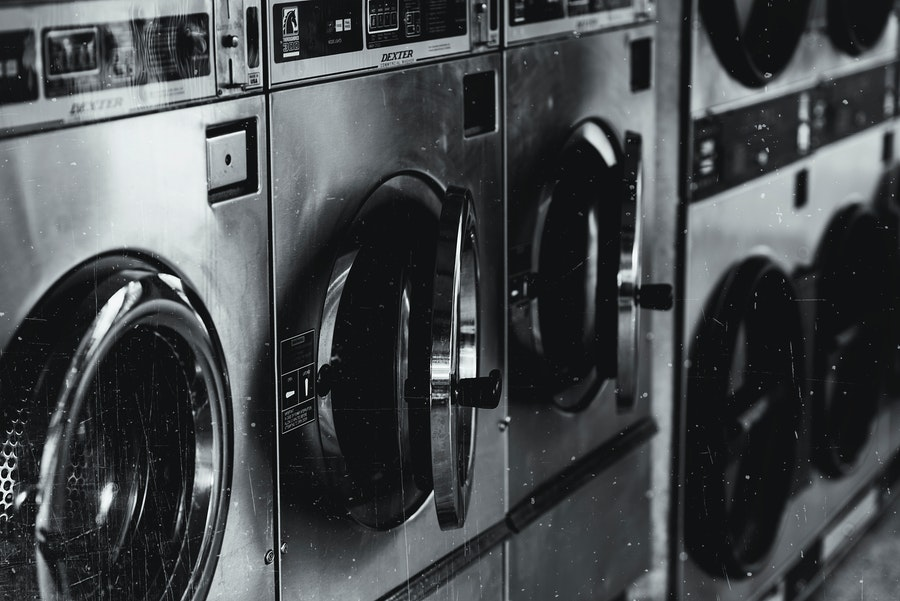 Washing machines in a row