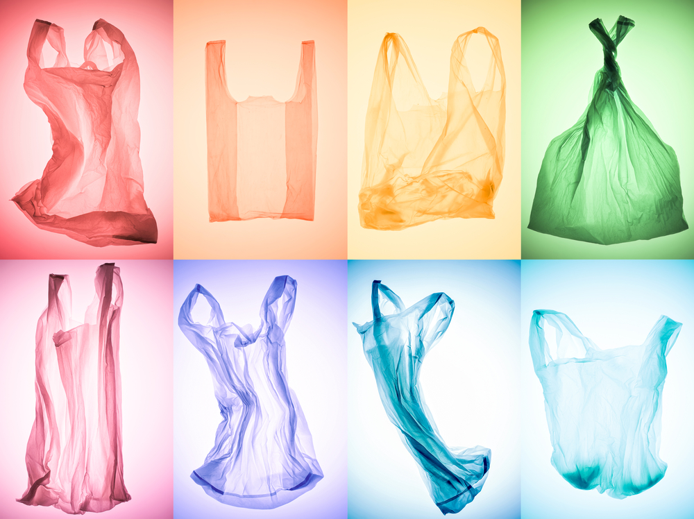 Colourful plastic bags