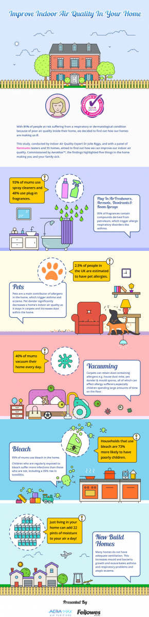 Indoor air quality infographic