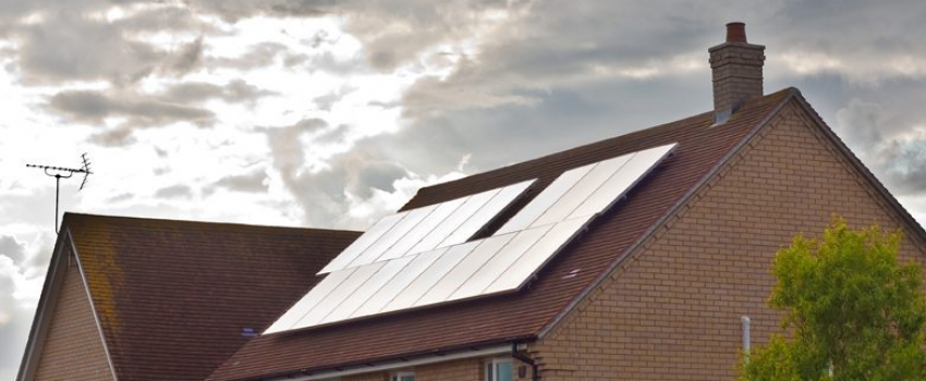 Solar panels on a modern house in England - great way to collect THE NUMBER of homes which use solar power has reached its million milestone, according to the Solar Trade Association. What's more, we think these numbers will inevitably rise. The figure has been calculated using recent data from the Department of Energy and Climate Change, which shows that around 800,000 homes have now installed solar power
